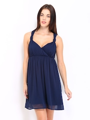 Vero Moda Navy Fit & Flare Dress
