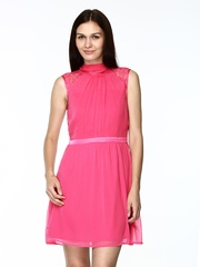 Vero Moda Pink Fit & Flare Dress