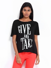 Vero Moda Women Black Printed T-shirt