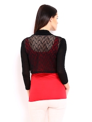 Vero Moda Black Net Shrug