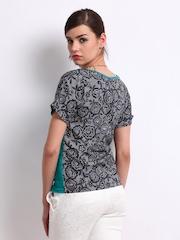 Vero Moda Women Blue & Charcoal Grey Shalo Top