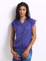 Vero Moda Women Blue Jollo Top