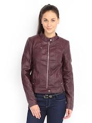 Vero Moda Women Burgundy Jacket