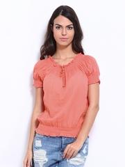Vero Moda Women Coral Red Top