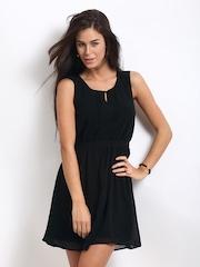Vero Moda Black Fit & Flare Dress