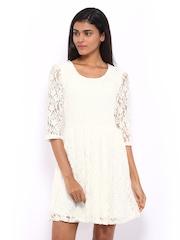Vero Moda White Lace Fit & Flare Dress