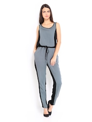 Vero Moda Women Grey & Black Jumpsuit