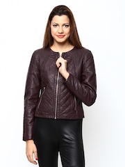 Vero Moda Women Wine-Coloured Jacket