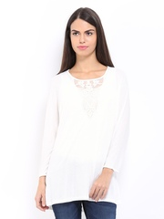 Vero Moda Women Off-White Lace Top