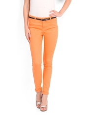 Vero Moda Women Orange Skinny Fit Jeggings