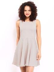 Vero Moda Women Peach-Coloured Fit & Flare Dress
