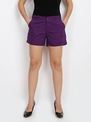 Vero Moda Women Purple Shorts