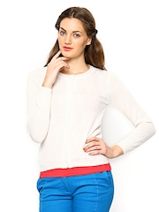 Vero Moda Women White Sweater