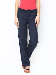Women Blue Trousers Vero Moda