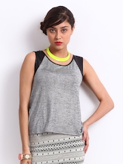 Vero Moda Women Silver Toned Tank Top