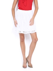 Vero Moda White Flared Skirt