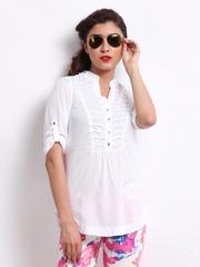 Vero Moda Women White Laila Top
