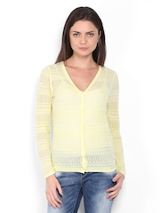 Vero Moda Women Yellow Cardigan