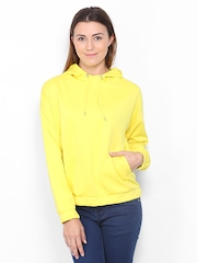 Vero Moda Women Yellow Hooded Sweatshirt