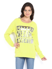 Vero Moda Women Yellow Printed Sweatshirt