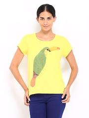 Vero Moda Women Yellow Printed Top