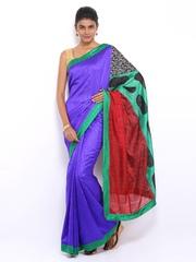 Vishal Prints Blue Art Silk Fashion Saree