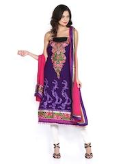 Vishal Prints Purple & Pink Georgette Semi-Stitched Dress Material