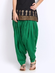 Vishudh Women Green Patiala Pants