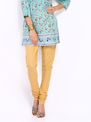 Vishudh Women Khaki Coloured Churidar
