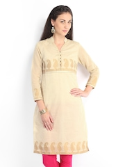 Vishudh Women Off-White Kurta