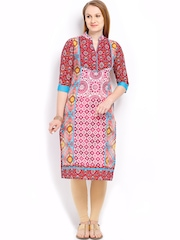 Vishudh Women Multicoloured Printed Kurta