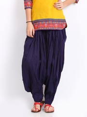Vishudh Women Purple Patiala Pants