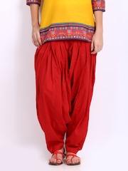 Vishudh Women Red Patiala Pants