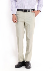 Vivaldi Men Beige Straight Fit Formal Trousers