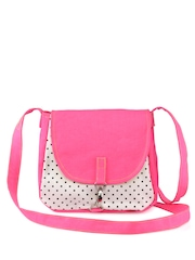 Vogue Tree Pink & White Printed Sling Bag
