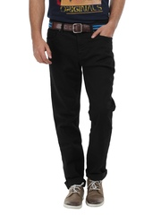 Voi Jeans Men Black James Regular Tapered Fit Jeans