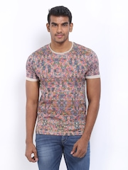 Voi Jeans Men Multi-Coloured Printed T-shirt
