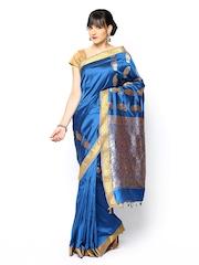 Vritika Blue Art Silk Traditional Saree