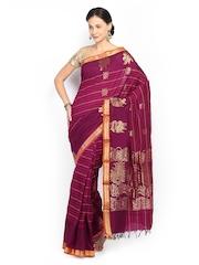 Vritika Magenta Cotton Traditional Saree