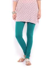 W Women Green Churidar Leggings