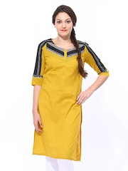 W Women Yellow Kurta