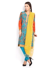 W Women Mustard Yellow Dupatta