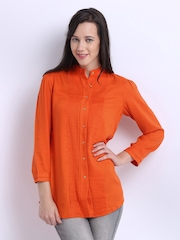 W Women Orange Casual Shirt