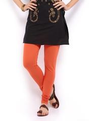 W Women Orange Churidar Leggings