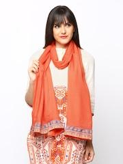 W Women Orange Dupatta