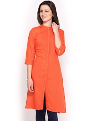 W Women Orange Kurta
