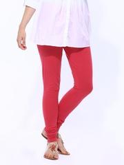 W Women Pink Churidar Leggings