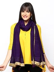 W Women Purple Dupatta