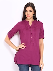 W Women Purple Kurti
