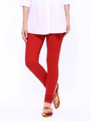 W Women Red Churidar Leggings